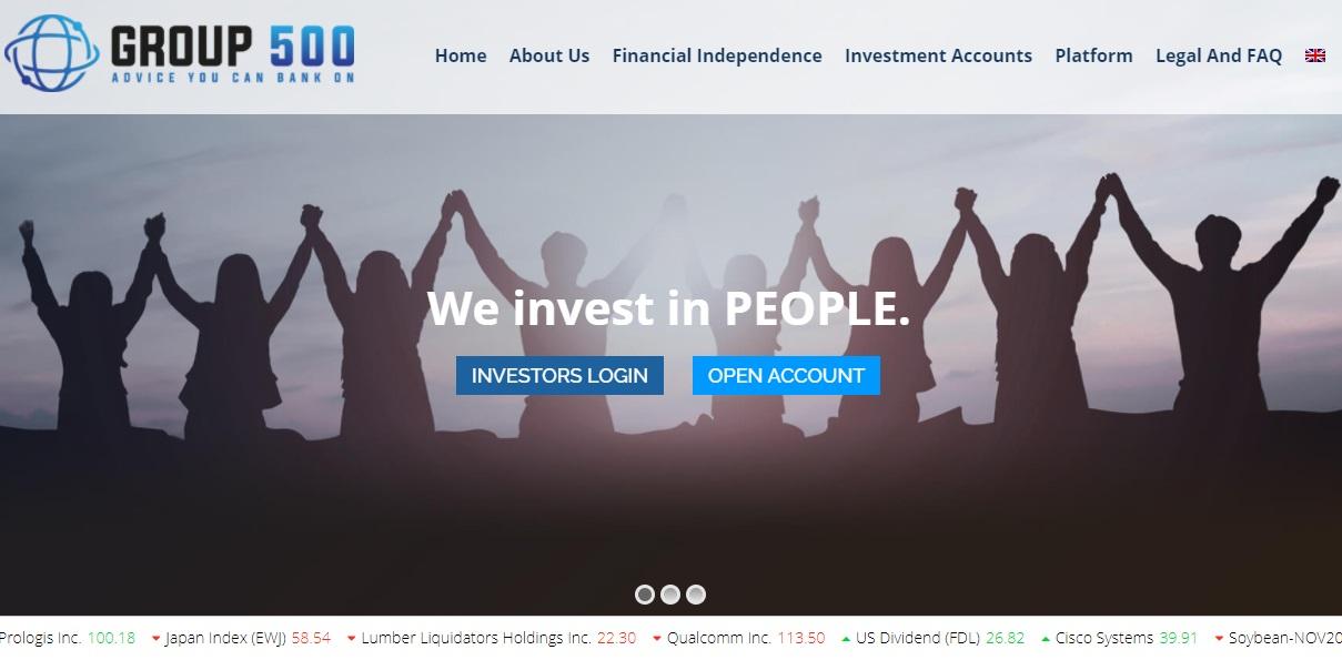 Group 500 trading platform