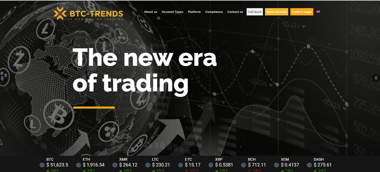 BTC-Trends website