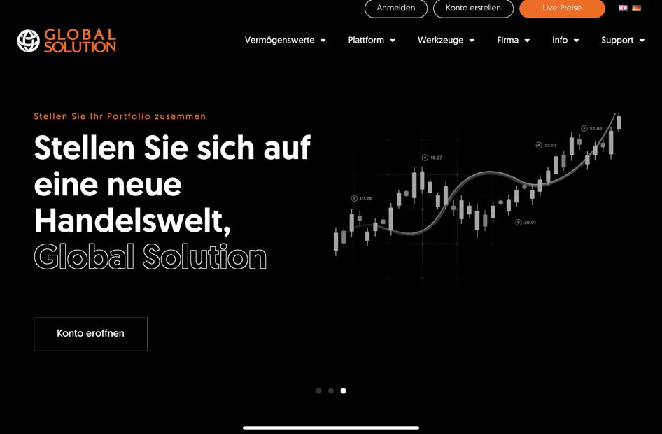 Die Homepage von Global Solution.