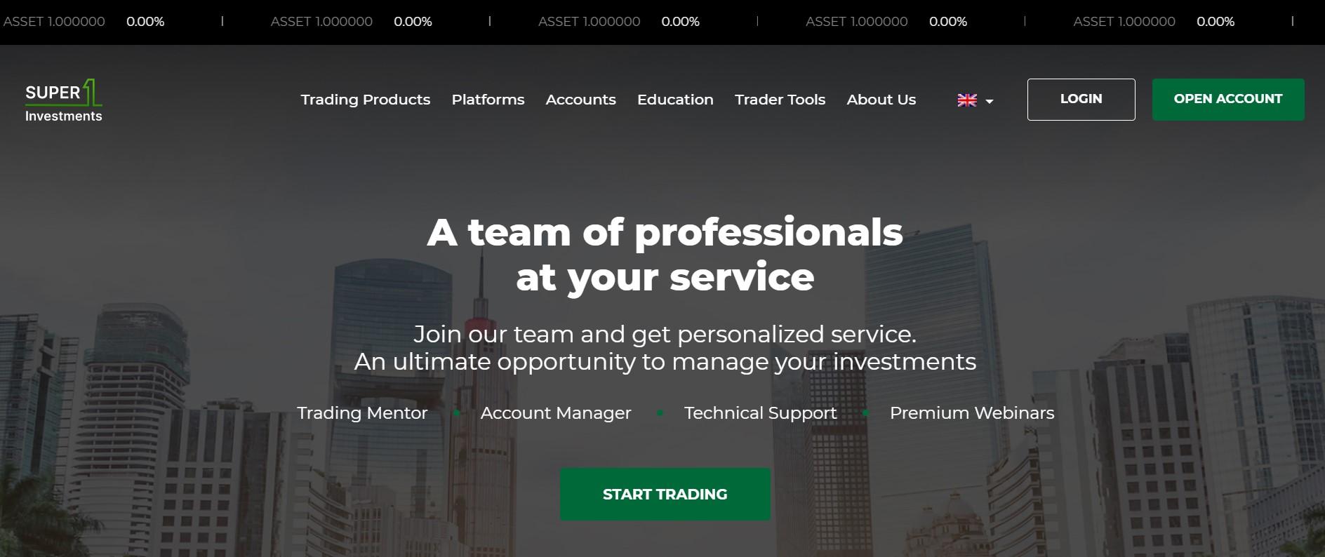 Super1Investments website