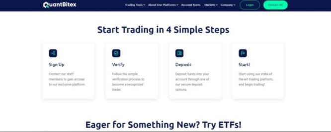 Quantbitex simple account