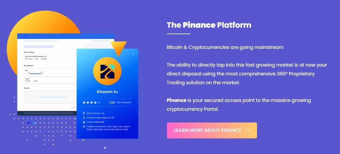 Pinance trading platform