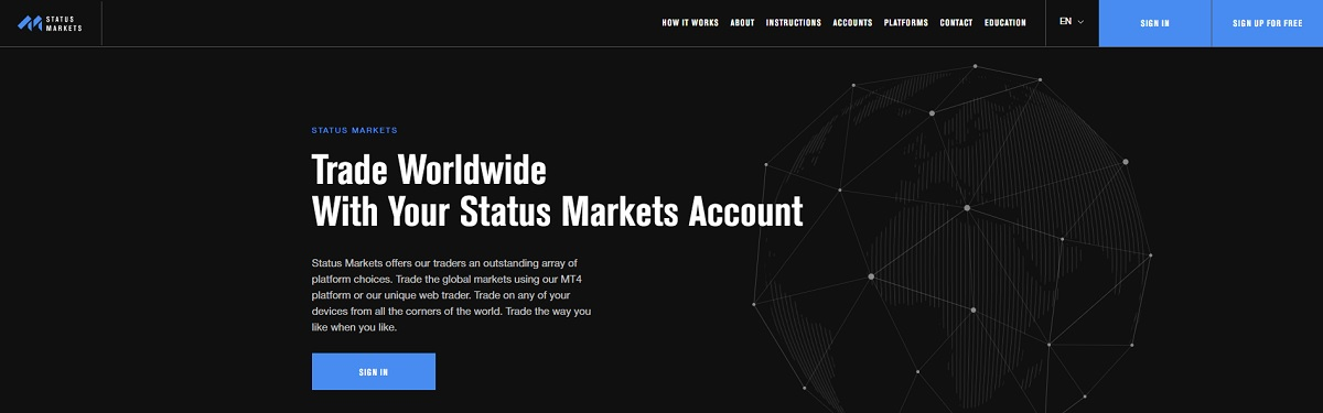 Status Markets home page