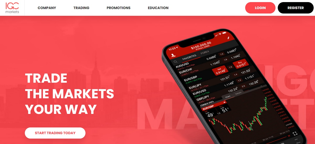 IGC Markets home page